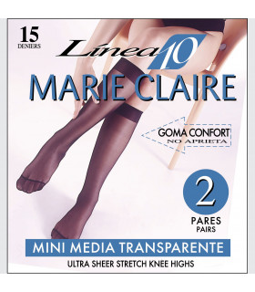 Mini Media 15DEN Marie Claire 2610 pack-2 pares talla unica cod. 02610