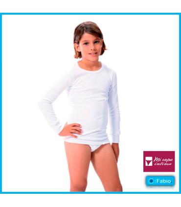 Camiseta niño Manga larga de Algodón infantil 8111 FABIO